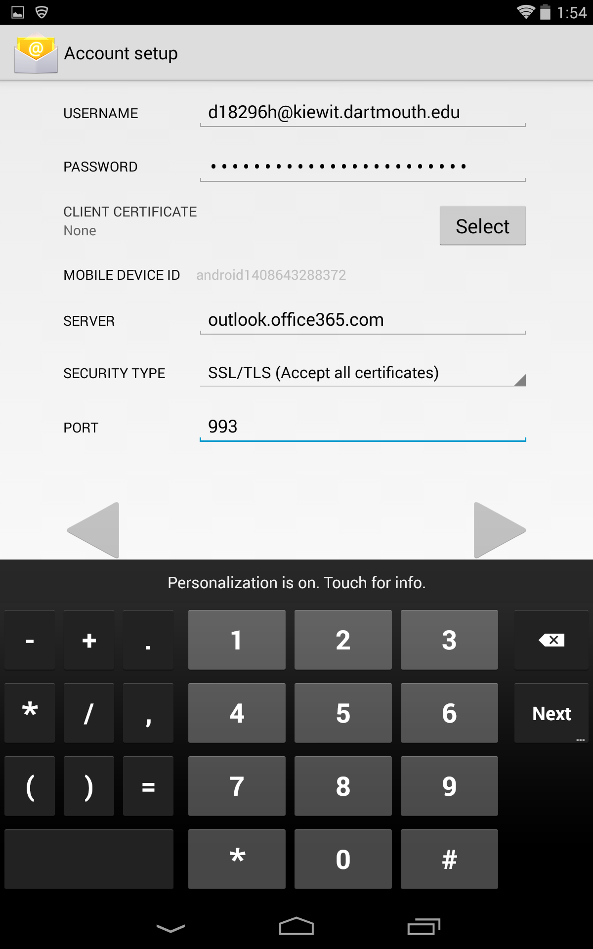 how to change samsung android mail salutation